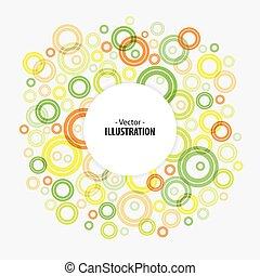 Abstract Helle Technologie kreist Vektorhintergrund.