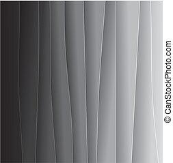 Abstract Hintergrund der schwarzen und weißen Papierblätter - Vektorgrafik. Diese Hintergrundgrafik besteht aus schwarzen und grauen Farbtönen aus Schwarz an einem Ende zu sehr hellgrau oder off-white auf der anderen