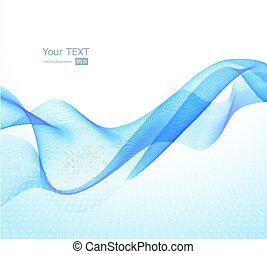 Abstract Hintergrund mit blauer Welle.