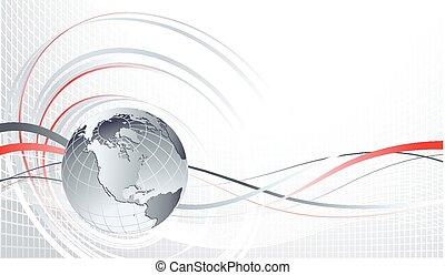 Abstract Hintergrund mit Globus.