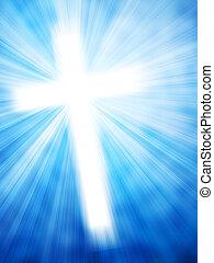 Abstract Hintergrund mit leuchtenden Kreuz- und Lichtstrahlen.