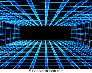 Abstract Hintergrund mit Tunnel aus Gitter