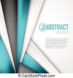 Abstract Hintergrund von blauem, weißem und schwarzem Origamipapier. Vector Illustration