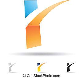 Abstract Icon für Buchstabe R.