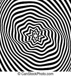 Abstract Illusion Textur. Op art.