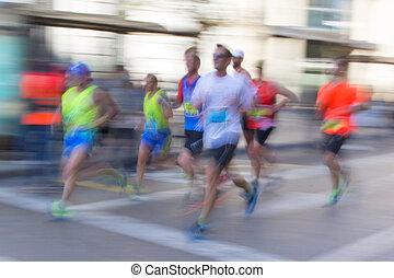 Abstract Läufer mit Unschärfe.
