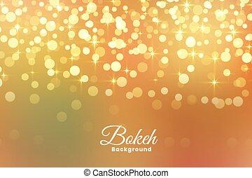 Abstract Licht schimmert goldenen Hintergrund.