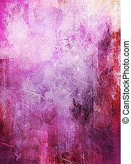 Abstract Mixed Media Artwork.