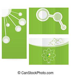 Abstract Molekülwissenschaft Hintergrunddesign.