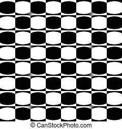 Abstract monochrome geometrische Muster mit Mosaik ovaler Formen. Schwarz und weiß, nahtlos wiederholbarer Hintergrund.