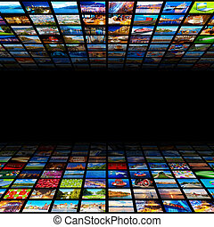 Abstract Multimedia Hintergrund.