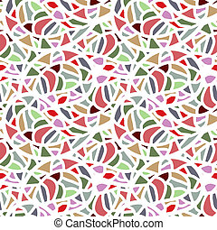 Abstract nahtloses Mosaikmuster.