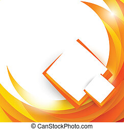 Abstract orange Broschüre.