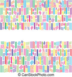 Abstract Regenbogenfarben Banner.