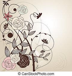 Abstract süßen Blumen Hintergrund.