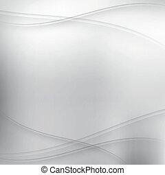 Abstract Silber Hintergrund mit Wellen.