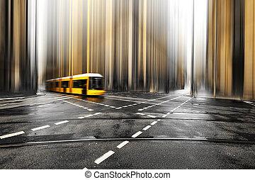 Abstract Straße von Berlin, Deutschland, Europa.