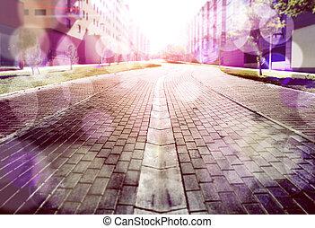Abstract Street Floor Hintergrund.