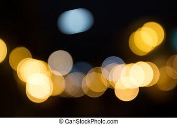 Abstract Street Light Bokeh.