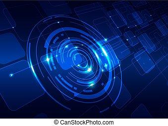 Abstract Technologie blauer Hintergrund.