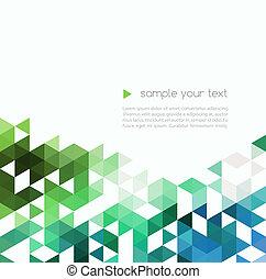 Abstract Technologie Hintergrund mit Farbdreieckformen