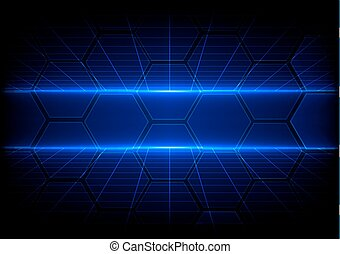 Abstract Technologie Hintergrund mit Rasterkonzept.
