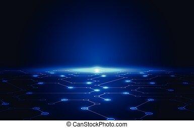 Abstract Technologiekonzept Hintergrund, Vektorgrafik.