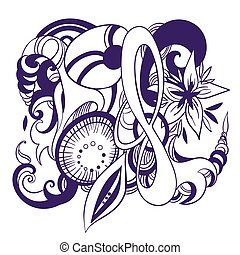 Abstract Vektor-Tattoo-Symbol