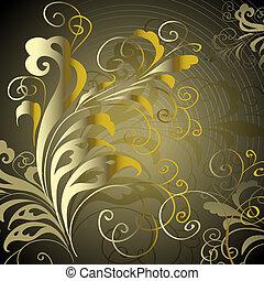 Abstract Vintage elegant Vektor Hintergrund mit einem geometrischen Ornament.
