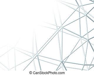 Abstract weißer Hintergrund mit 3D-Lattice.