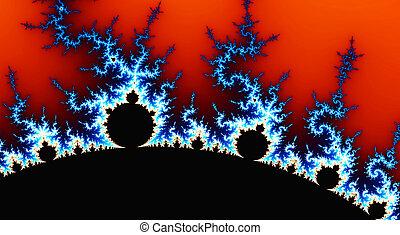 abstrakt, digital, erzeugt, fractal