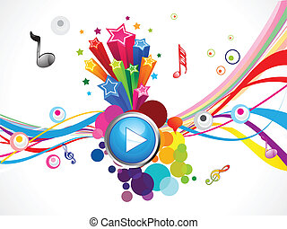 Abstrakt farbenfrohe Musik