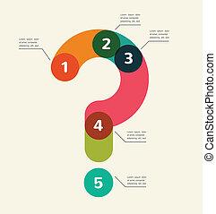 abstrakt, infographic, frage, hintergrund, markierung