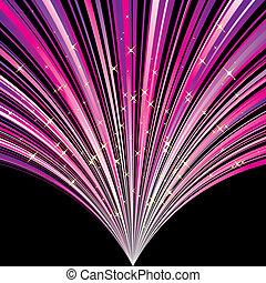 Abstrakt magenta stripe Hintergrund mit Sternen