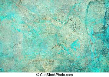 abstrakt, textured, grunge, blaues