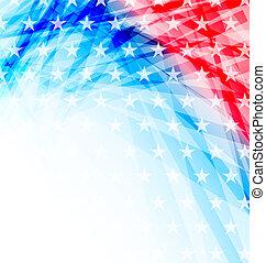 Abstrakte amerikanische Flagge für Unabhängigkeitstag.