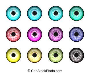 Abstrakte Augen 1.