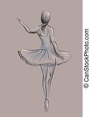 Abstrakte Balletttänzerin.