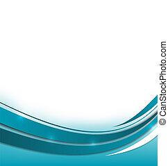 Abstrakte blaue Broschüre.