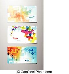 Abstrakte farbenfrohe Variationen.