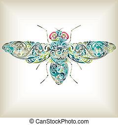 Abstrakte Fliege