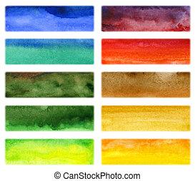 Abstrakte Hand zog Wasserfarben