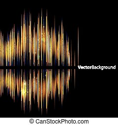 Abstrakte Hintergrund-Symbol-Wellenform.