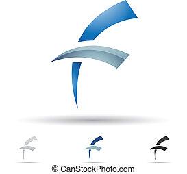 Abstrakte Ikone für Buchstaben F