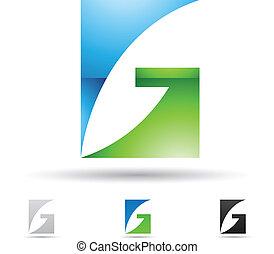Abstrakte Ikone für Buchstaben G