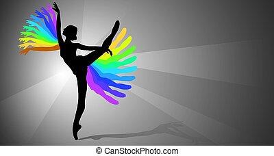 Abstrakte Illustration einer Ballerina.
