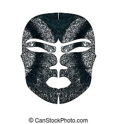 Abstrakte Imitation einer afrikanischen Maske.