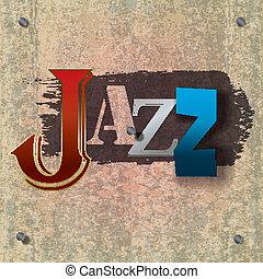 Abstrakte Jazzmusik Hintergrund