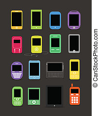 Abstrakte moderne und klassische mobile Geräte