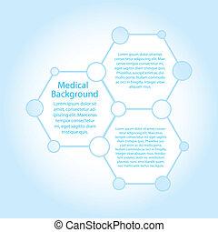 Abstrakte Moleküle medizinischer Hintergrund mit Kopierraum (vektor)
